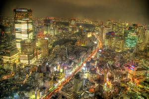 Ночной Токио, фото