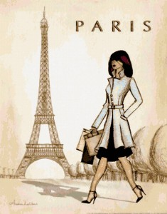 Гулять по городу Париж